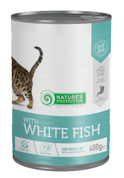 Nature's Protection Cat with White Fish